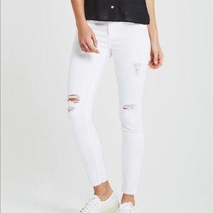 AG Jeans Ankle Super Skinny Destroy White Jeans